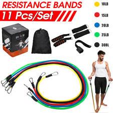 Nuevo conjunto de bandas de resistencia 11Pcs tubos de Entrenamiento de Fitness Entrenamiento Ejercicio Gimnasio, hacer yoga