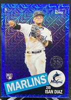 ISAN DIAZ 2020 Topps Series 2 Silver Pack 1985 Blue Refractor /150 Marlins RC
