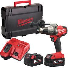 Milwaukee M18fpd-502x 135nm Li-ion Brushless Fuel Combi Drill X2 5.0ah Batterie