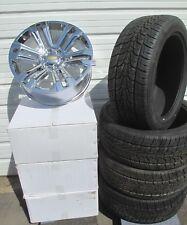 "22"" New Silverado Suburban Factory Spec Chrome Wheels 2854522 Nexn Tires 4741A G"