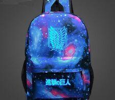 Attack on Titan Luminous Backpack Student Schoolbag Travel Bag Japan Anime