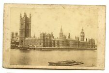 1870s HOUSES OF PALIAMENT LONDON BIG BEN CDV PHOTO CARTE DE VISITE TOPO POSTCARD