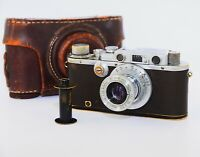 Leica III DRP Chrome Edition 1934 RANGEFINDER Film Camera w/s lens industar-22