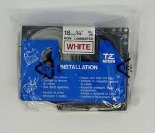 Brother TZ-N242 Original P-Touch Red on White Tape 18mm x 8m