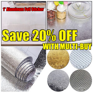 Stove Oil-proof Cupboard Aluminum Foil Self-adhesive Wallpaper Kitchen Stickers