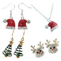 1 Paar Weihnachtsbaum Elch Schneeflocke Ohrringe baumeln Tropfen Ohrring Schmuck