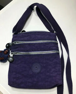 Kipling Purse Purple Small Nylon Monkey Keychain