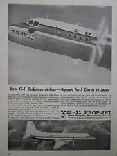 10/1964 PUB NAMC NIHON AEROPLANE JAPAN YS-11 AIRLINER OLYMPIC TORCH TOKYO 64 AD