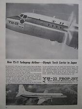 10/1964 PUB NAMC NIHON AEROPLANE JAPAN YS-11 AIRLINER OLYMPIC TORCH TOKYO 64 AD