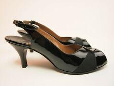 Palizzio Vintage 60s Patent Peep toe Slingbacks 8 M