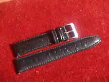20 mm NERO STRUZZO Spot cinturino in pelle con fibbia S/S