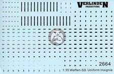 Verlinden 1/35 German Waffen-SS Uniform Insigna WWII [Water slide Decal] 2664