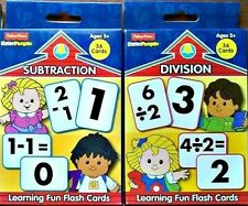 FISHER PRICE, SUBTRACT,DIVIDE, FLASH CARDS, Little People  Set-2  Ages 5+ NEW