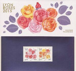BLOC SOUVENIR N°111 - Roses à Lyon - Flore // 2015