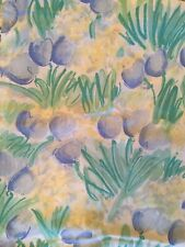 Vintage Fabric Shower Curtain Floral Green Yellow Blue Saturday Knight LTD