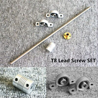T8 Lead Screw Set L100 - 1200mm with Nut & Coupler & Vertical Bearing