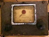 MONITORADIO Tube Radio Frequency Modulation Police & Gov Scanner 30 - 50 Mhz