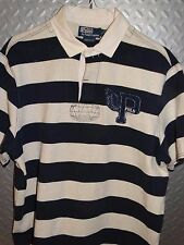 17471 Vintage Polo Ralph Lauren P-Wing P Wing 1992 Rugby Shirt ~ L Large