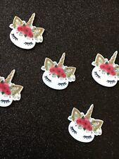 5pc. Flower Hair Unicorn  resin Planar Flatback, cabochon,bow center,jewelry,