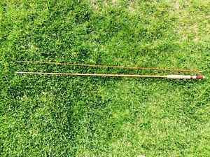 """VINTAGE WRIGHT &  McGILL  HOLLOW GLASS 2 PIECE """"3A"""" -  8 1/2' FLY ROD DENVER CO"""