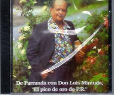"""LUIS MIRANDA - """" DE PARRANDA'' - """" EL PICO DE ORO"""" - CD"""