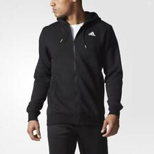 Adidas Kapuzenjacke Herren Sweat Jacke Schwarz Sport Hoodie Fitness Neu Zip Gr:S