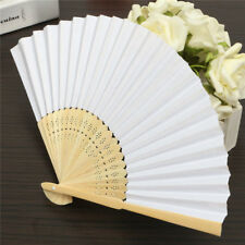 DIY Hand Paper Fans Pocket Folding Bamboo Fan Birthday  Party Wedding Decor