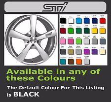 SUBARU STI Decals/Stickers for Alloy Wheels x 6