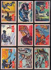 1966 TOPPS OPC O PEE CHEE BATMAN RED BAT FULL COMPLETE 44 CARD SET EX-NM PENGUIN