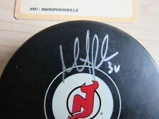 Martin Brodeur New Jersey Devils Autograph Puck - Stenier COA