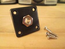 Black  Square Output Jack Plate PlasticFits Epiphone Les Paul ®