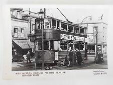 PAMLIN PRINTS M 525 - LONDON TRANSPORT - TRAMCAR No. 1812 @ MERTON CHANGE PIT