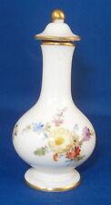Antique Meissen Porcelain Floral Perfume Bottle Flacon Porzellan Flakon Perfuem