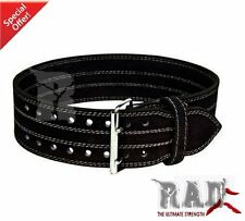 2Fit Leather Power Weight Lifting Body Building GYM Training Back Support Belt-S