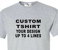Custom T Shirt Your Design Your Text Here Lot 1300# (16 Shirt Colors SM - 6X)