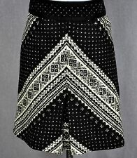 ETCETERA BLACK IVORY SOFT WOOL PRINT SKIRT size 10 NEW $195