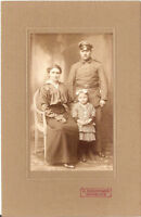 CAB photo Soldat mit Familie - Warburg 1910er