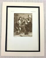 1927 Antico Stampa Olandese Vecchio Master Ritratto Di Artista Pittura Adriaen