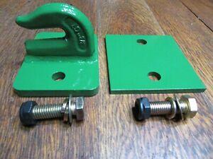 """Tractor skidsteer loader 3/8"""" grab bucket hook  bolt on with back plate, USA"""