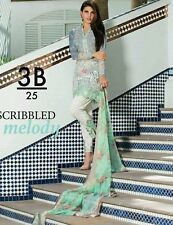 pakistani designer charizma inspired 3pc outfit grey medium pearl buttons