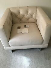 Natuzzi Leather Chair Natuzzi Editions in White Lemans
