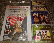 NEUF SCELLE  PRIX CHOC LOT MICHAEL JACKSON 1 LIVRE AVEC POSTER ET 3 CD