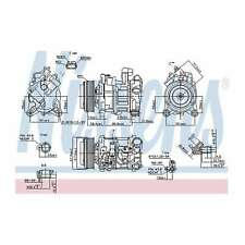 Fits BMW 5 Series F10 520d Genuine OE Quality Nissens A/C Air Con Compressor