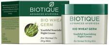 Biotique Bio Wheat Germ FIRMING FACE &BODY NIGHT CREAM Normal To Dry Skin 50gm