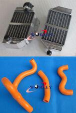 For KTM 50 SX SXS SX Mini 2012-2018 13 14 15 16 Aluminum radiator & hose ORANGE