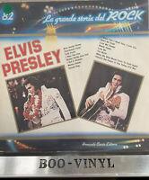 Elvis Italian LP La Grande storia del Rock. Gatefold sleeve. Rare EX / VG+