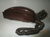 Vintage Brown Northwestern Bell Trimline Wall Telephone