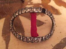 Antique Huge Paste Silver Georgian Curved Shoe Buckles