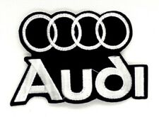 new Audi Logo Emblem Embroidered sew or Iron On Patch *372