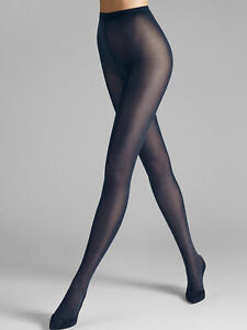 Wolford NWT Cobalt Blue Velvet De Luxe 50 Tights Size L